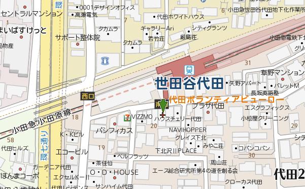 代田ボランティアビューロー地図